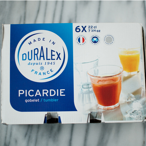 Duralex Picardie 22 cl 6개set 220ml