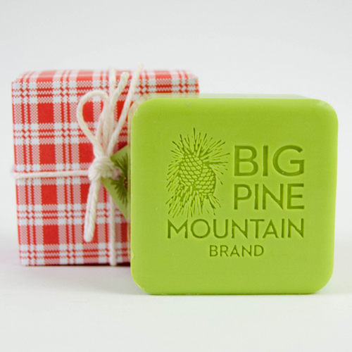 big pine mountain red plaid soap